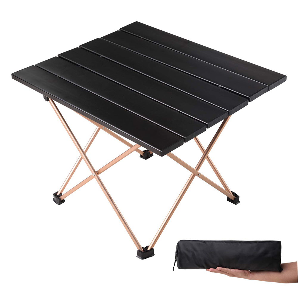 50% off Ultralight Compact Folding Outdoor Camping Aluminum <strong>Table</strong> with Carry Bag