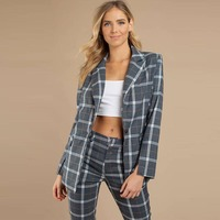 Autumn Clothing Women Ladies Coat Pant Suits Office