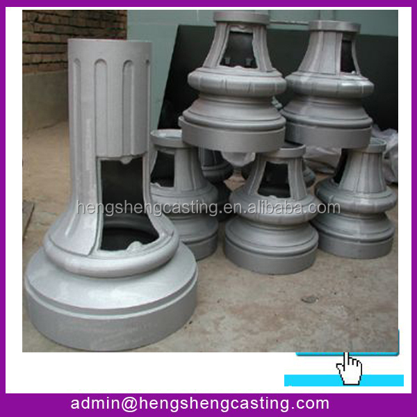 China supplier Decorative Cast Aluminum Sign Post Base / Covers