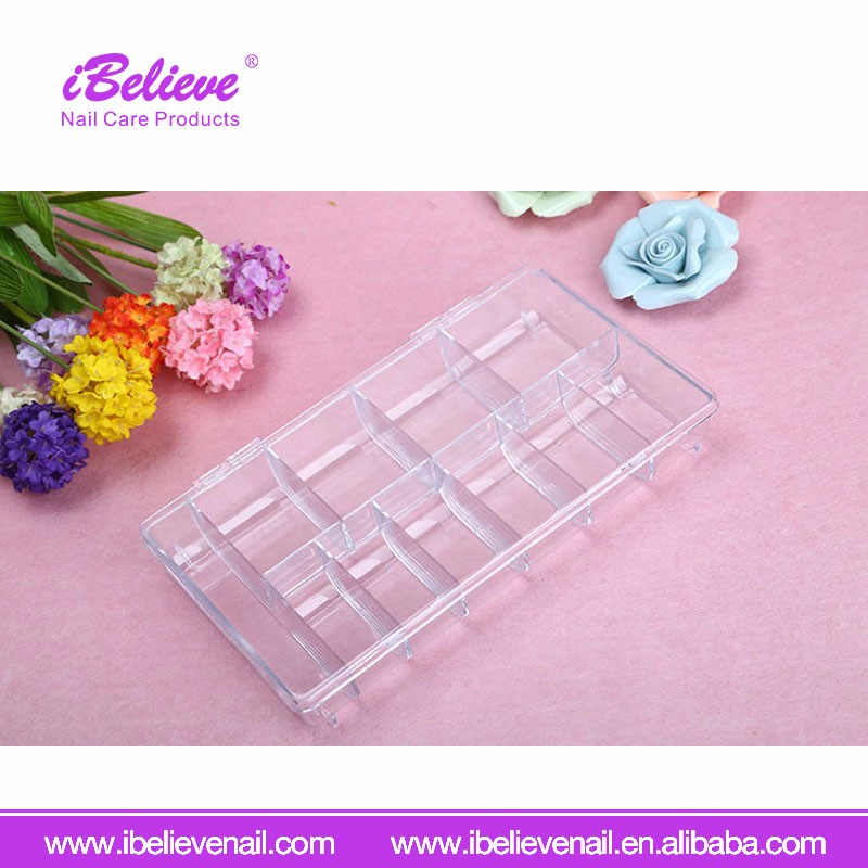 2017 Nail Tool Colorful Plastic Empty Nail Tips Storage Box