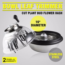 New Best 16 inch Hydroponic Bowl Leaf Trimmer Hand Twisted Bud Trimmer Spin Cut with Silicon Leaf Of VAPE Pen Grass Trimmer