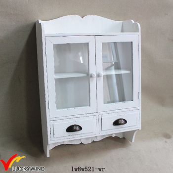 Shabby Chic Antique White Wall Wooden Kitchen Cabinet With 2 Drawer Buy Solid Wood Kitchen Cabinet Kitchen Wall Hanging Cabinet Kitchen Wall Cabinets With Glass Doors Product On Alibaba Com