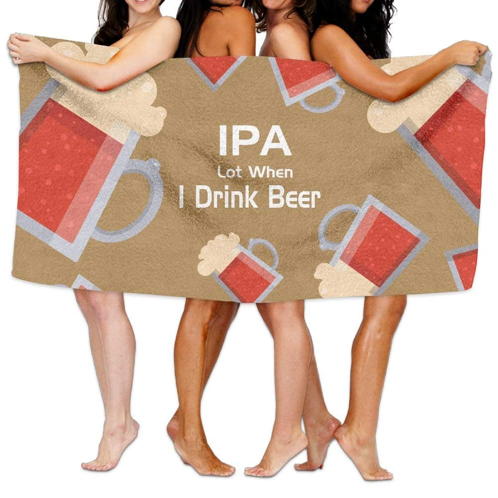 f9332c2fd2ef7 Get Quotations · Ipa Lot When I Drink Beer Swim Towel Softness And  Absorbency Towel