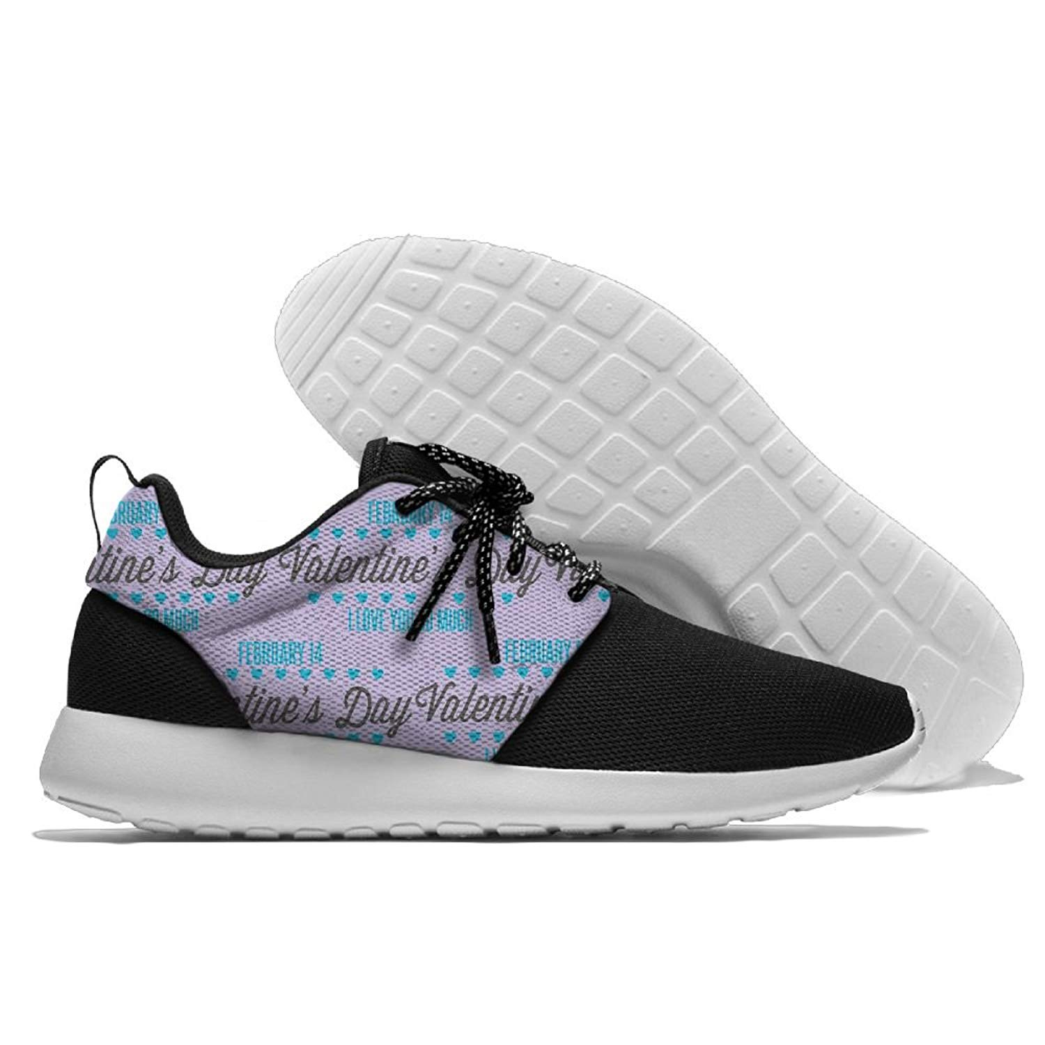Happy Valentine's Day 1 Mens Print Lightweight Sport Shoes Sports Breathable Sneaker Running Shoes