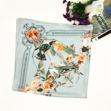 Handmade Hot-Selling Custom Designs Digital Print Pure Silk Scarf