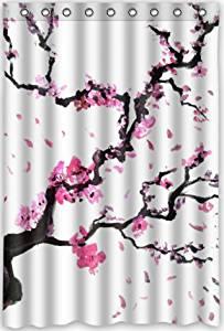 Funny Design Beautiful Cherry Blossom TreeJapan Art Shower Curtain 48