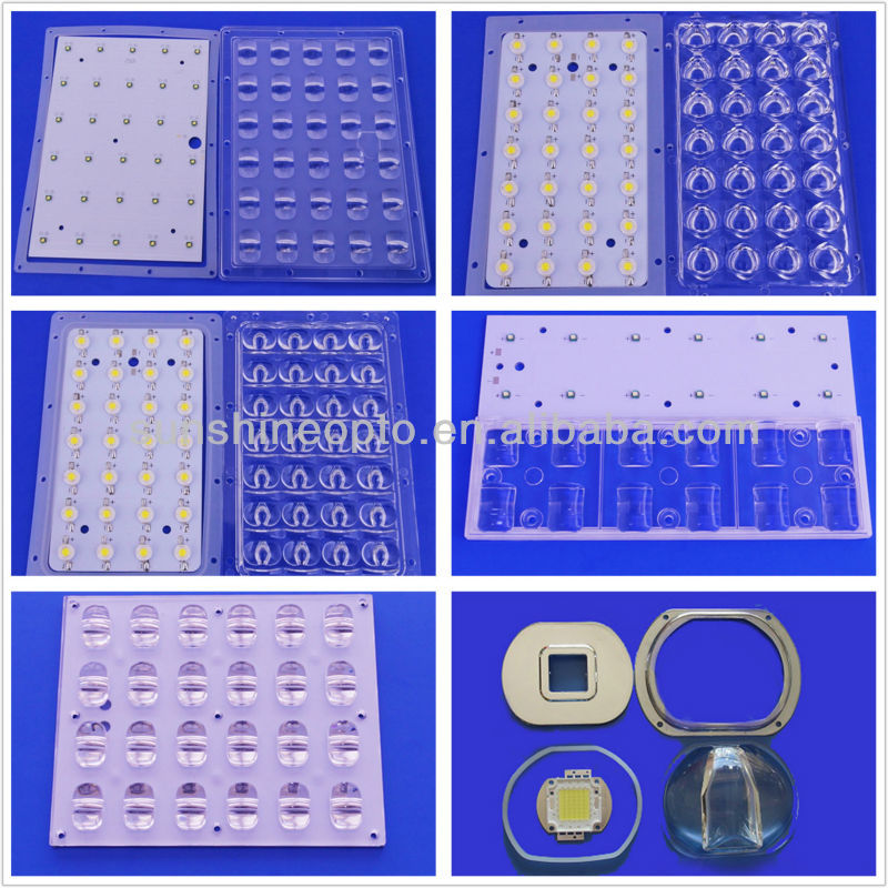 28 Watts 3535 SMD LED Batwing Street light lens