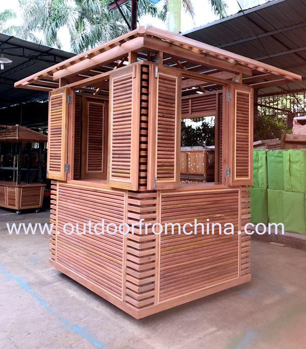 Pre o de um quiosque de madeira de atacado compre os for Kioscos de madera baratos
