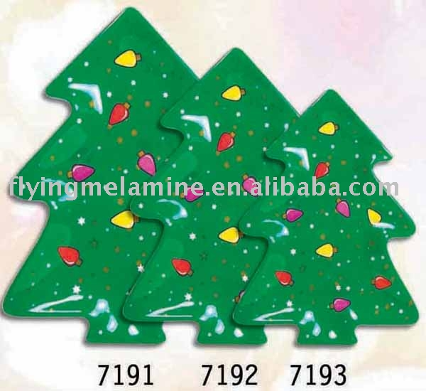 Christmas tree shape plate