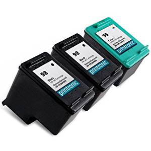 Printronic Remanufactured Ink Cartridge Replacement for HP 98 HP 95 (2 Black, 1 Color)
