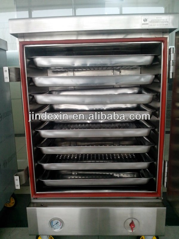 Kitchen Cooking Steamer With 8 Trays Commercial Food Steam Cabinet