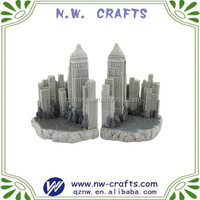 Resin cast New York Empire state building statue decorative bookends