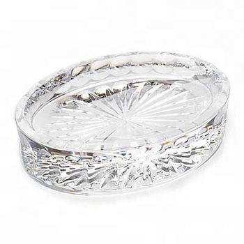 Waterford Crystal 5'' Oval Shaped Wedge Pillar Cut Soap Dish For Bathroom  Accessories - Buy Waterford Crystal 5'' Oval Shaped Wedge Pillar Cut Soap