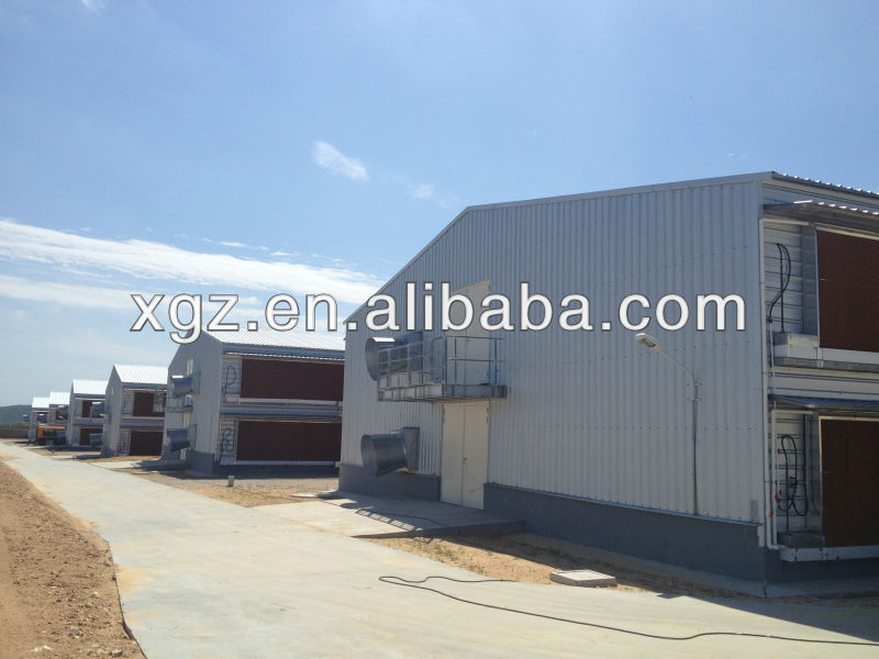 prefab steel poultry broiler house with equipments