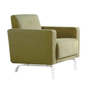 fabric tub chair single sofa with stainless steel legs