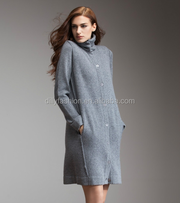 Ladies Cashmere Knitted Long Cardigan Sweater Coat - Buy Ladies