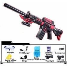 Electric Toy Gun Paintball Sniper Rifle Nerf Gun Soft Water Bullet Idea Flare Light Pistol Kids Toys