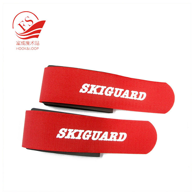 custom dying pantone colors hook loop EVA cross country ski clip strap from china manufacturer