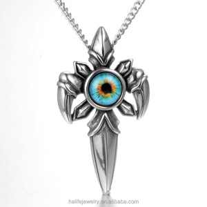 New Punk Style Wholesales Cross Sword Stainless Steel Pendant