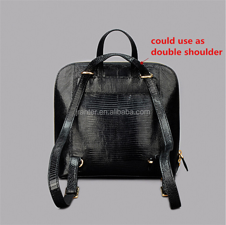 Hot Sales College Style backpack School Bags For Girls Women Backpack lizard Leather School Backpack