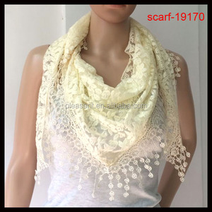 fashion lace cream scarf 2014