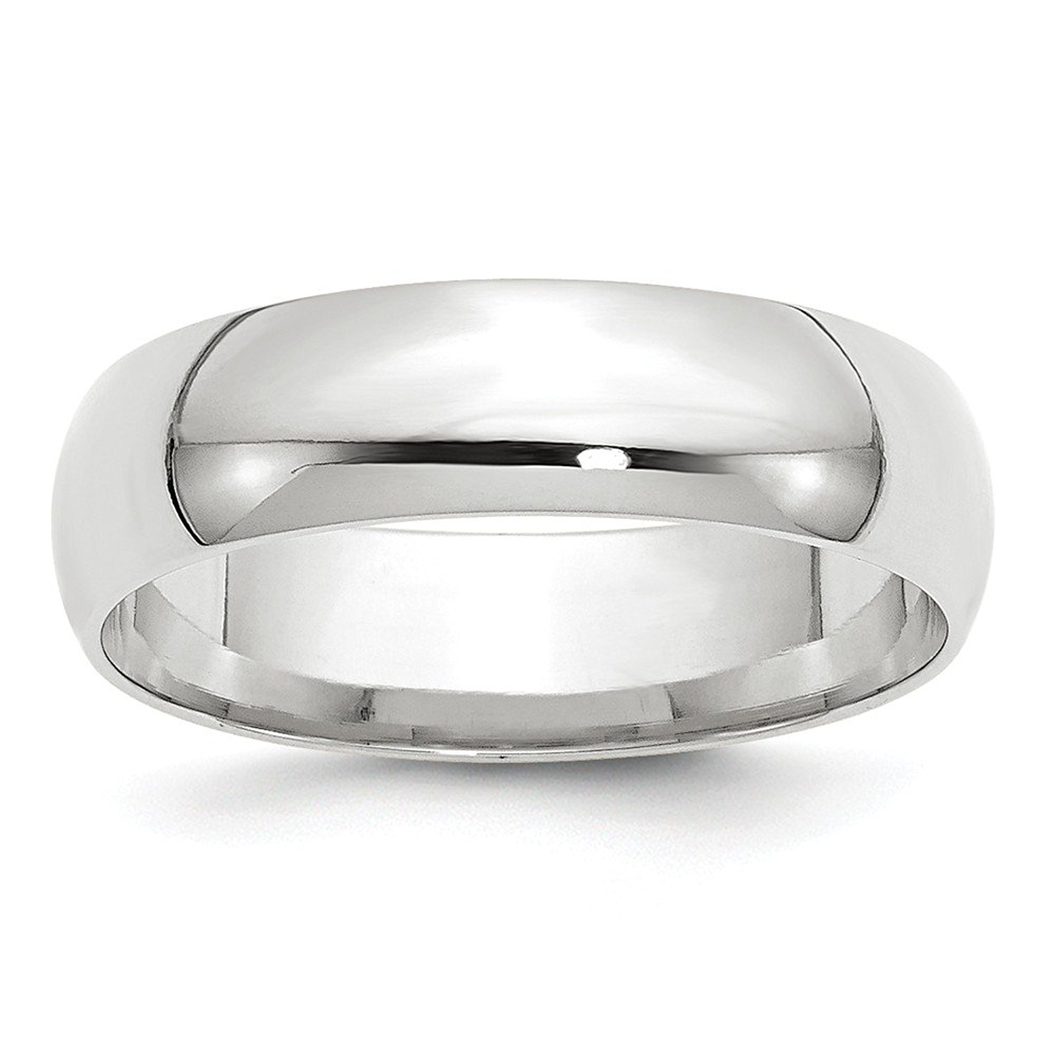 Perfect Jewelry Gift 14KW 6mm LTW Comfort Fit Band Size 9.5