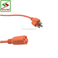 3 Pin male and female power plug UL Extension Cord Custom