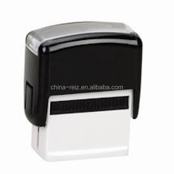 Customized logo self inking rubber stamp