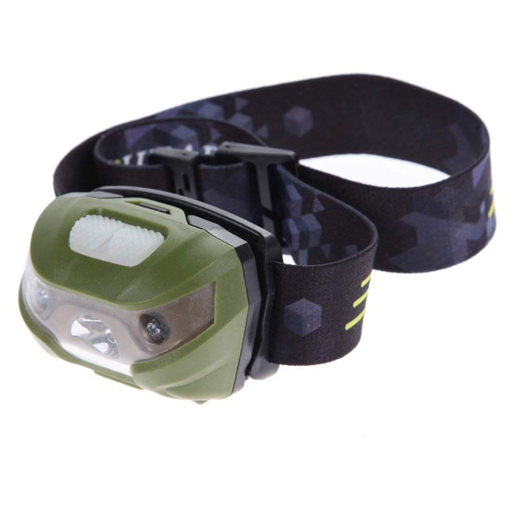 USB Charge LED Sensing Headlamp Waterproof Induction Lamp Outdoor Headlamp Rechargeable Headlight(green)