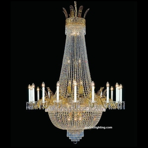 30 Lights antique total brass candle European style chandelier lamp stand manufacturer