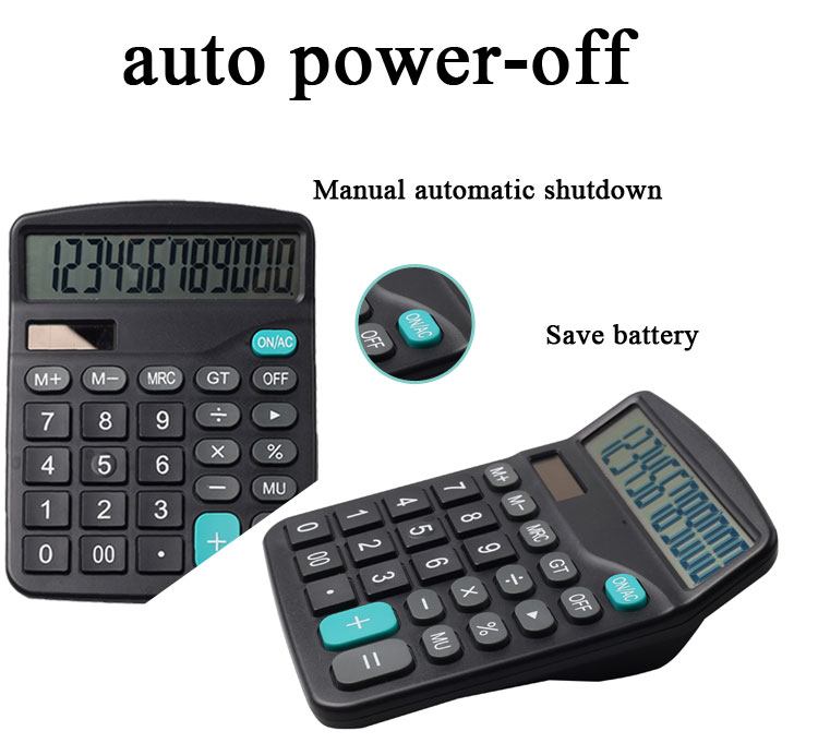 Cheap Office Solar and AAA battery Dual Power lcd Screen Desktop 12 Digit Calculator for Business Office