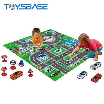 2019 New Traffic Gym Game Toy With Car Baby Rubber Play Mat