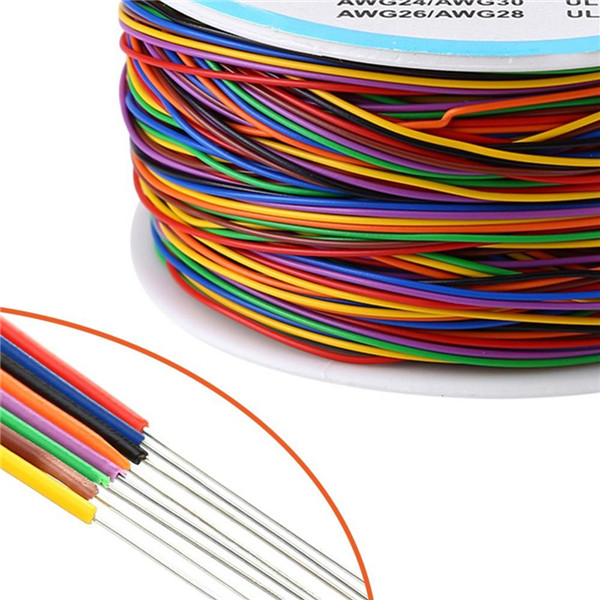 280M 8-Wire Colored Insulated P//N B-30-1000 30AWG Test Wire Copper Wrap Cable