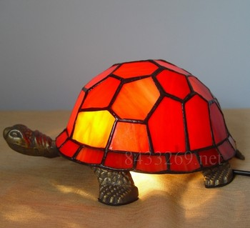 8inch latest design for tiffany stained glass art table lamp shade of tortoise from factory with high quality