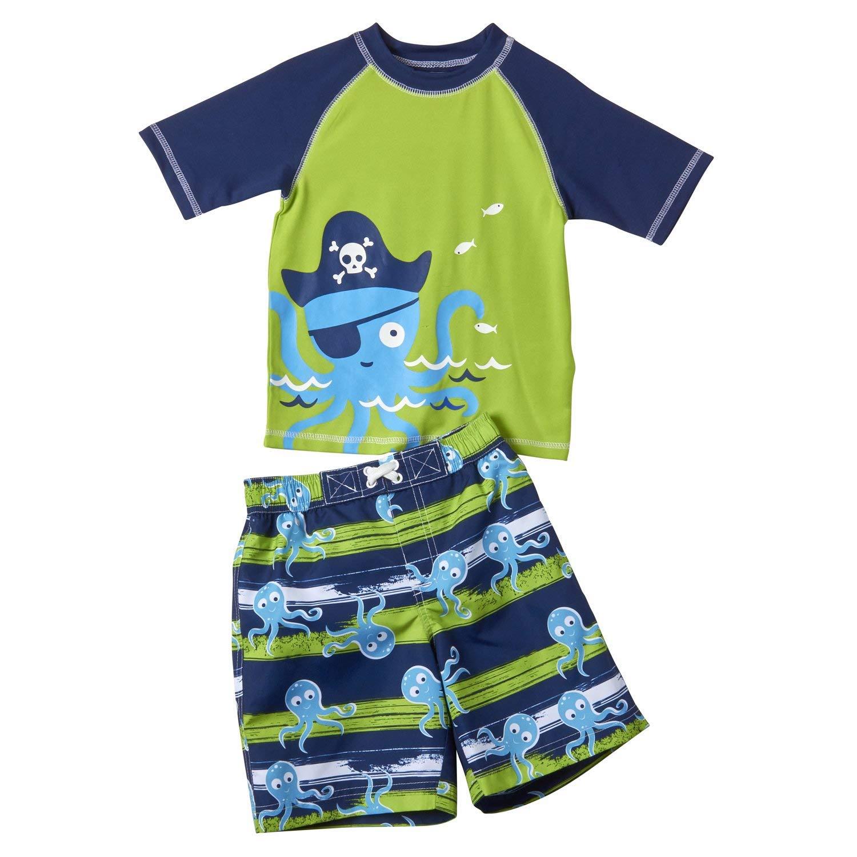 cece87fb1b Get Quotations · Wippette Boys 2-Piece Rashguard Swimwear