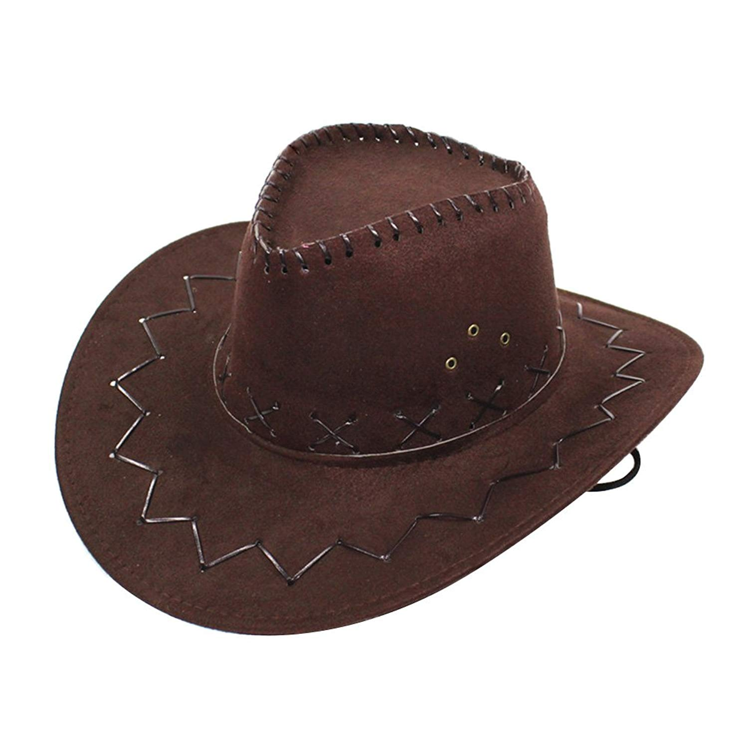 Get Quotations · iShine Cowboy Hat Fancy Dress Accessory Wide Brim Western  Cowgirl Hats Wild West 6613071d7faf