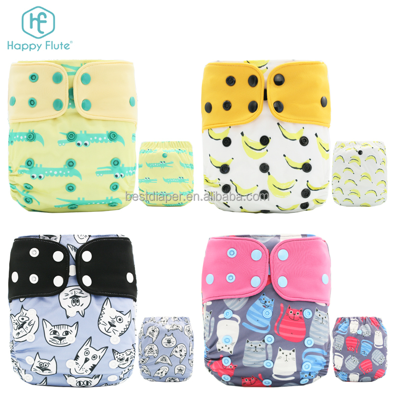 Happy flute diapers baby cloth diapers organic pocket cloth nappy