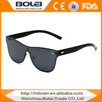 Flat top cat.3 uv400 rimless sunglasses