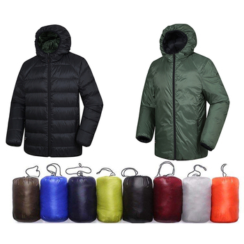 Reversible Lightweight dark down jacket