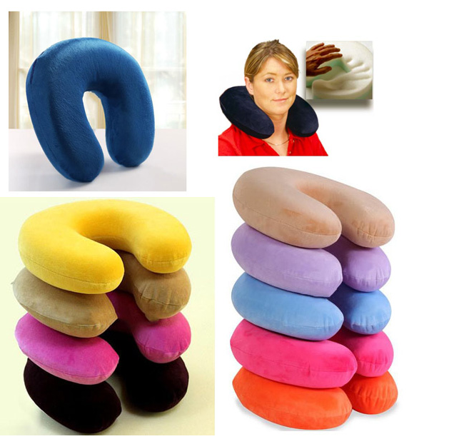 Customize Polyurethane foam OEM cute airplane car neck pillow