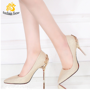 Custom Match color ladies after party wear shoes women high heel white wedding shoes