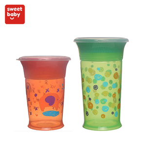 Baby Item Plastic 360 Degree Kid Cup With Lids and Spout Wholesale Non-Spill Miracle Baby Trainer 360 Sippy Cup