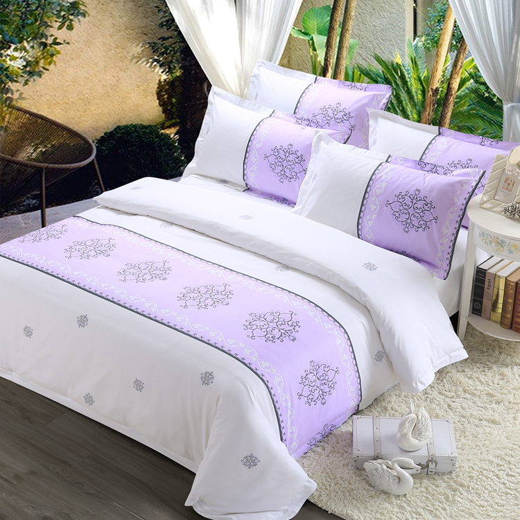 Printed Comfortable Duvet Cover 100 Cotton Bed Sheets Thailand Set Bedding