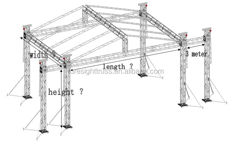 Aluminum Studio Truss Roof Semi Circle Roof Truss Pvc