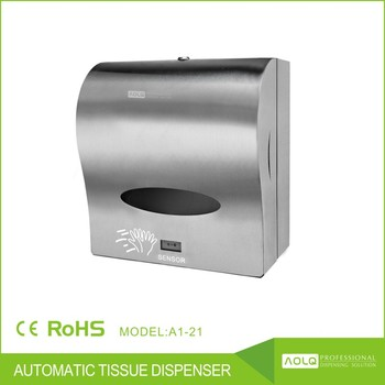 Stainless Steel Jumbo Roll Automatic Sensor Paper Towel Dispenser ...