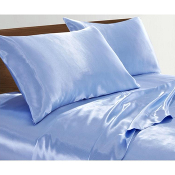 100 Polyester Satin Silk Shinning Bed sheet twin / single size