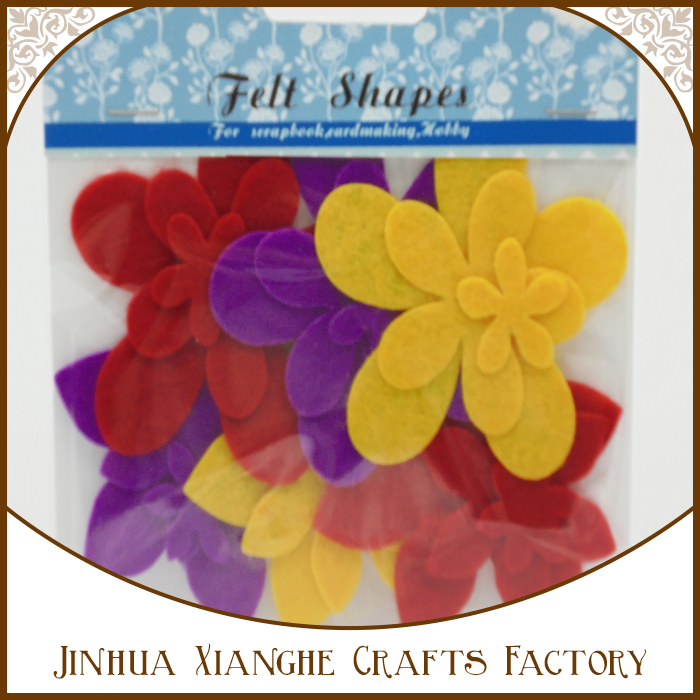 die cut felt flower shapes for paper craft decorations