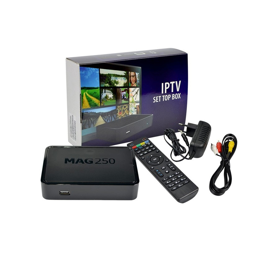 <strong>TV</strong> MAG 250 IPTV <strong>SET</strong> TOP BOX Multimedia Player Internet <strong>TV</strong> IP HDTV 1080p with one year iptv account