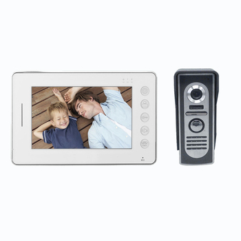 Night Vision 7 Inch Color Monitor Wired Video Door Phone With Video