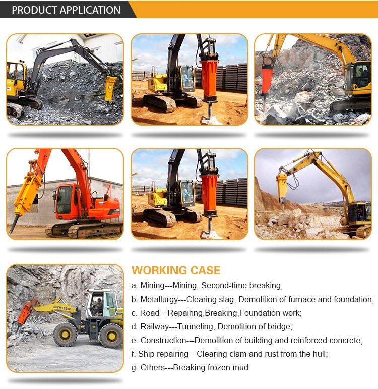 rock breaker hammer construction machinery parts